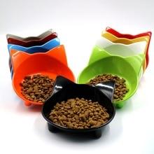 Новинка, 8 цветов, кошачья посуда для домашних питомцев, миска для домашних животных, кормушка для кошек и собак, маленькая миска для еды для собак, аксессуары для домашних животных
