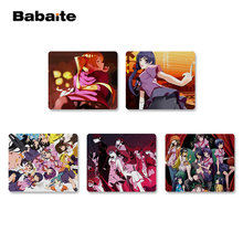 Babaite Antiscivolo PC Monogatari Serie Del Mouse In Gomma Durevole Desktop Mousepad Top Commercio All'ingrosso di Vendita di Gioco del mouse Pad(China)