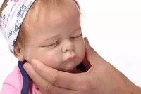 NPKCOLLECTION53cm Твердого силикагеля и хлопок тело lifelike новорожденный ребенок, спящий с корнями волос силикона возрождается baby dolls