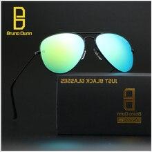 Bruno Dunn 3025 Glass lense Aviation Women Sunglasses 2017 Men Sun Glasses Femal