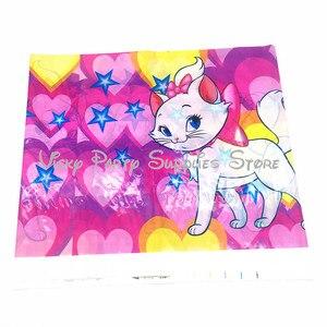 Image 5 - Vajilla desechable con dibujo de gato rosa de Los Aristogatos para Fiesta Temática, plato para Baby Shower, suministros de decoración