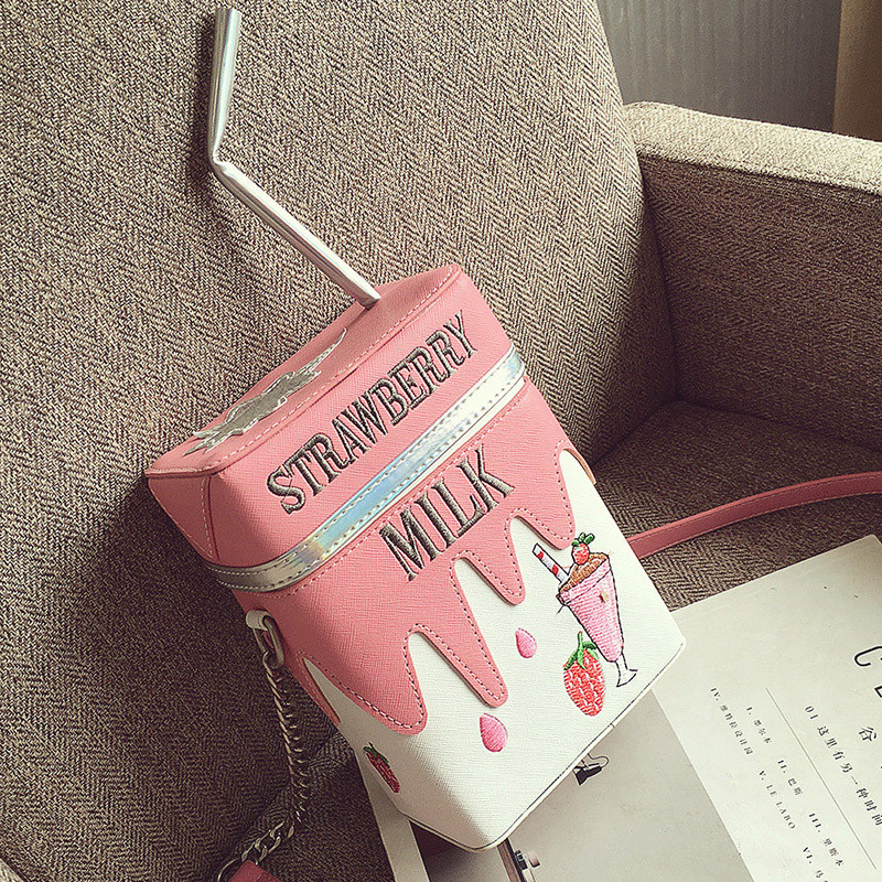 Mini Fruit Women Bag Cute Stereo Box Makeup Cartoon Women Fashion Letter Canvas Shoulders Bag SS0115 japanese pouch small hand carry green canvas heat preservation lunch box bag for men and women shopping mama bag