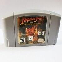 Indiana Jones e a máquina infernal Cartucho de Língua Inglês para 64 pouco EUA Versão Do Jogo de Vídeo Console