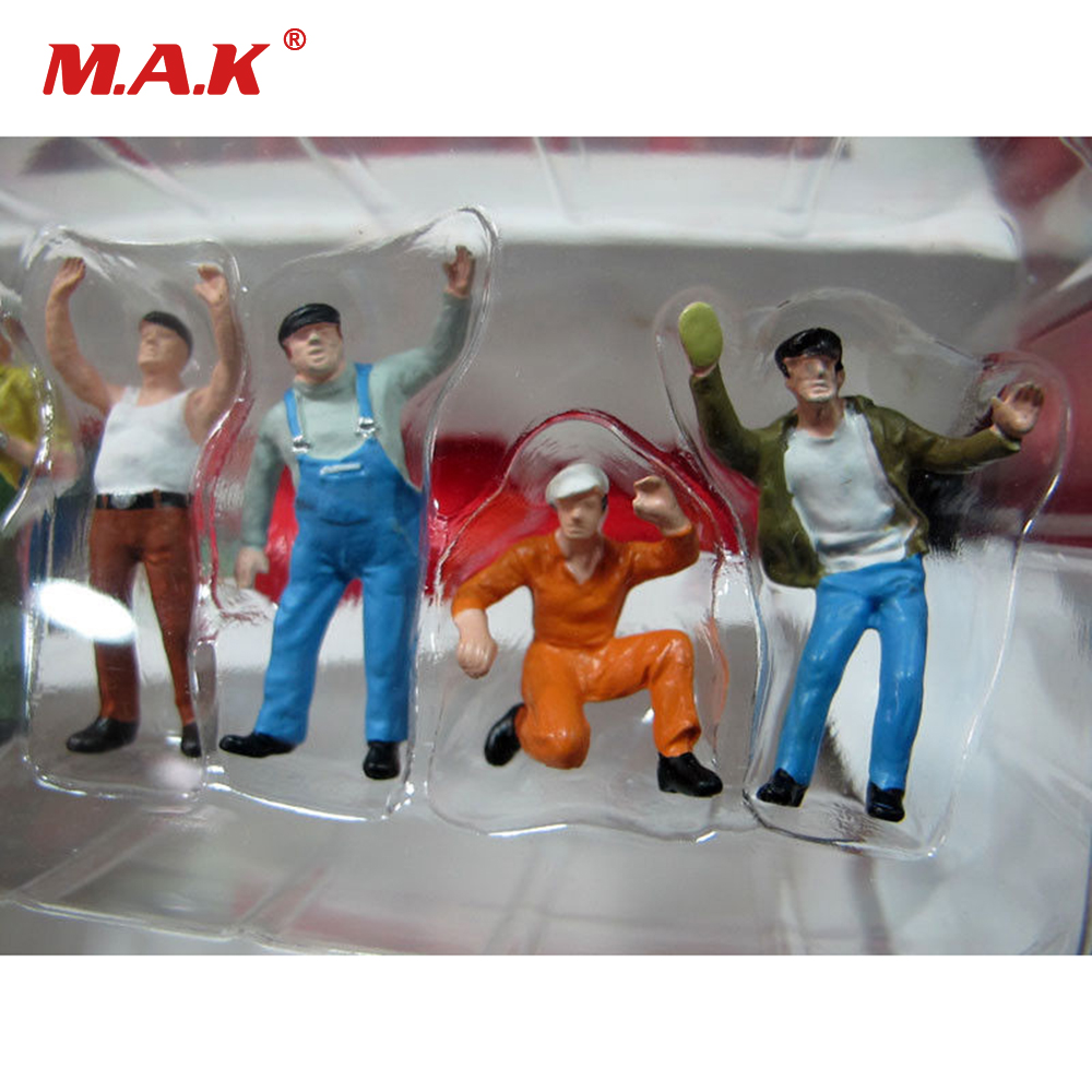 3cm 1:50 Construction Vehicles Sandbox Scene Workers Doll Scene Decoration Puppets Toys Action & Toy Figures