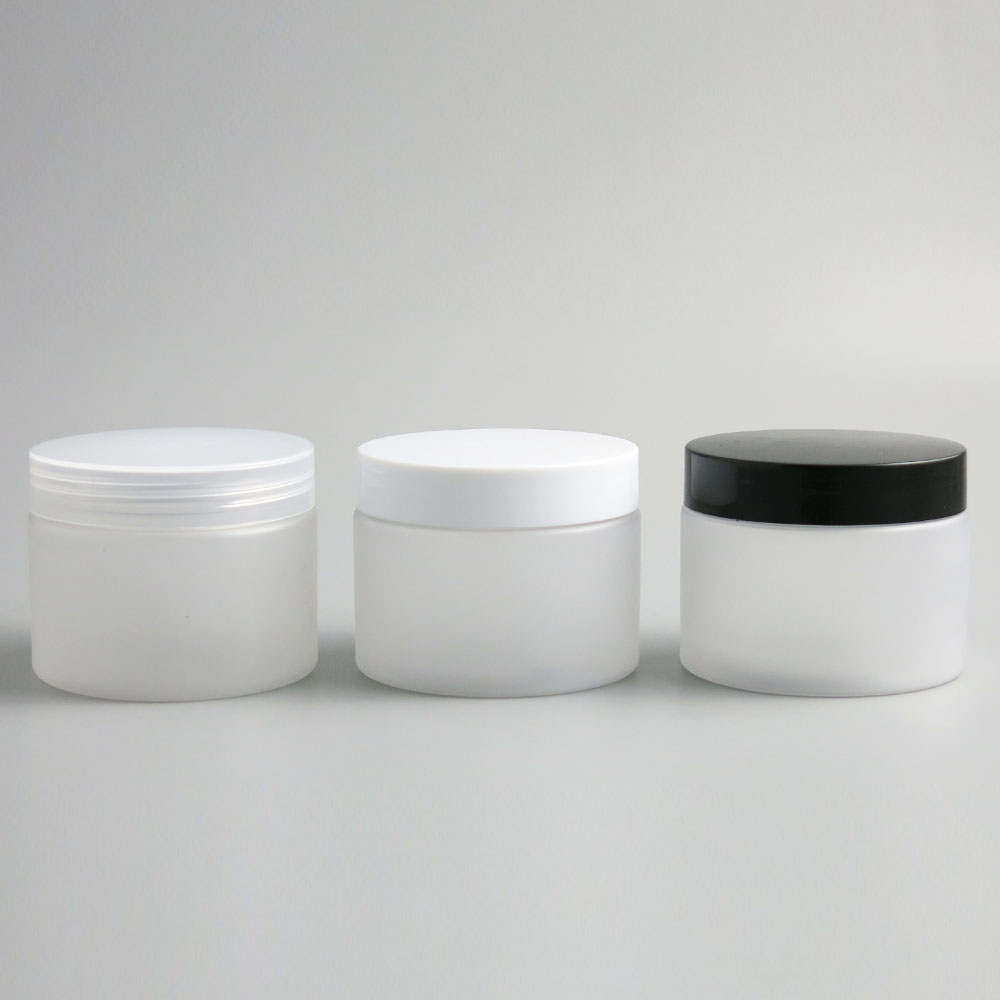 30 x 150g 200g Empty Frosted PET Cosmetic Jar Pot Tin with Plastic Cap Seal Balm