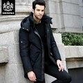 Novatex abajo abrigo masculino de la manera medio-largo engrosamiento térmica pato blanco abajo prendas de vestir exteriores delgada más el tamaño masculino