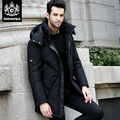 Novatex down coat male fashion medium-long thickening thermal white duck down slim outerwear plus size male