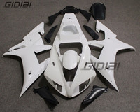 Unpainted Raw ABS Injection Bodywork Fairing Kit For YAMAHA YZF R1 2002 2003 02 03 +4 Gift