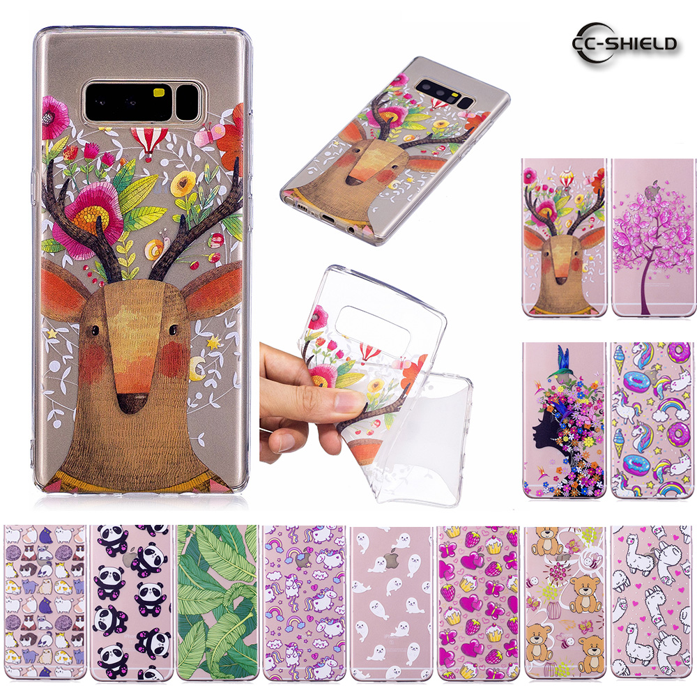 Soft TPU Case for <font><b>Samsung</b></font> <font><b>Galaxy</b></font> <font><b>Note</b></font> <font><b>8</b></font> N950F <font><b>N950N</b></font> N950FD Transparent Silicone Cover Phone Case SM-N950F SM-N950FD N9500 Coque image