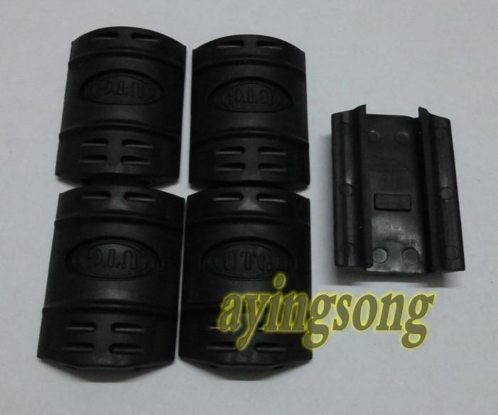 100pcs UTG tactical rubber handguard rail covers Black