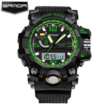 2018G Stil SANDA Uhr Herrenuhren Top-marke Luxus Wasserdichte Sport Digital Quarz Uhren Männer S Shock Relogio Masculino