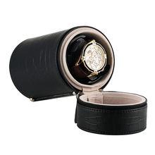 Fashion Cylinder Mute Automatic Watch Winder Black Crocodile Luxury Distributed USB Cable Rotatory Clock enrolador relogi