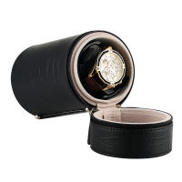 Fashion Cylinder Mute Automatic Watch Winder Black Crocodile Luxury Distributed USB Cable Rotatory Clock Winder enrolador relogi