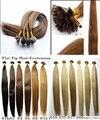 Envío gratis Pre Bonded punta plana extensiones de cabello 1 gramos Strand queratina de Remy Human Hair 100 G