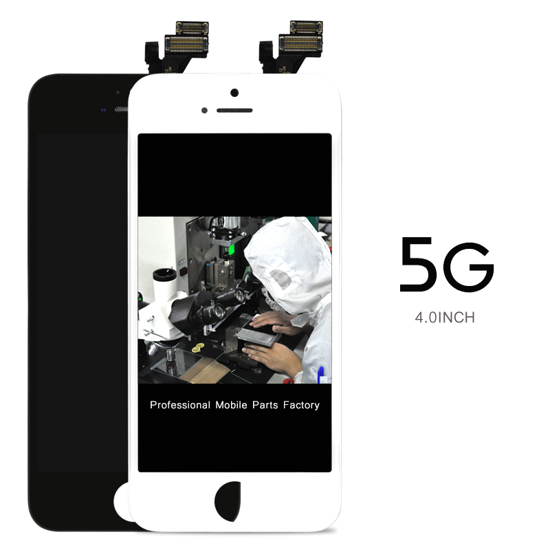 Free DHL 30pcs Black White Color 100 Guarantee Grade AAA For IPhone 5 LCD Screen No