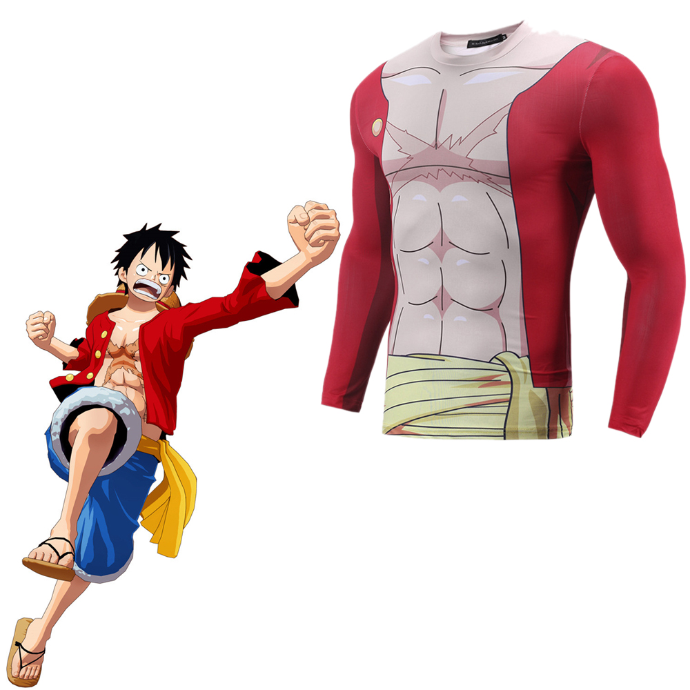 Us 16 99 One Piece Monkey D Luffy Cosplay Costume 3d Print T Shirt Japanese Anime 3d Printed T Shirt Clothes In Anime Costumes From Novelty