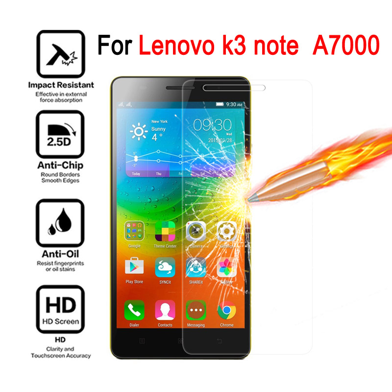 K3 note Tempered Glass Film for Lenovo K3 Note A7000 A 7000 Screen Protector cover Toughened Protective Film case