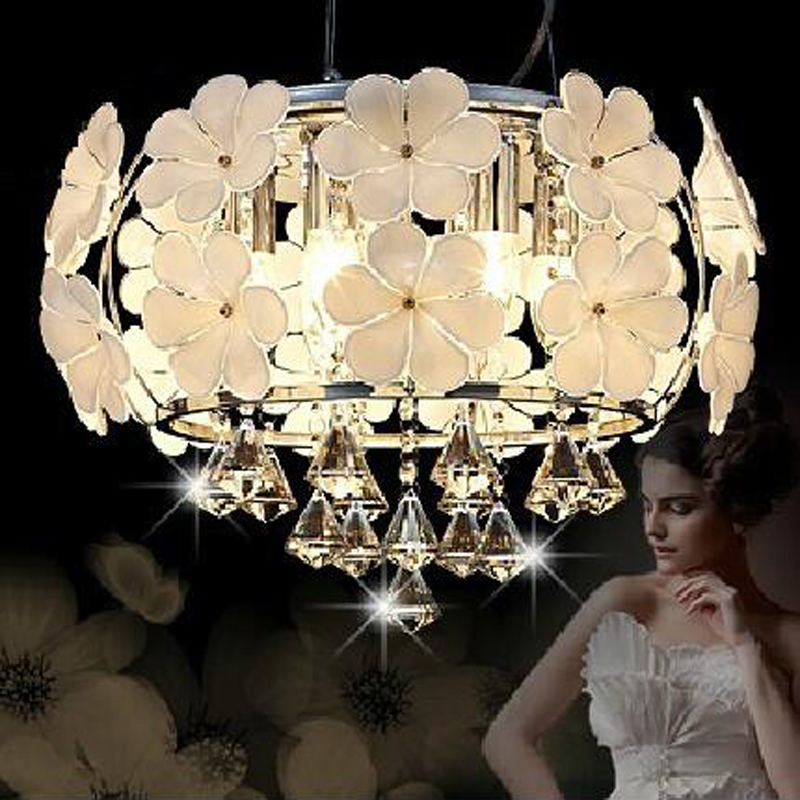 Modern LED crystal lamp simple ceiling lighting handmade petal chandelier bedroom lamps restaurant lighting led lighting fixture 30w led cob usb rechargeable 18650 cob led headlamp headlight fishing torch flashlight