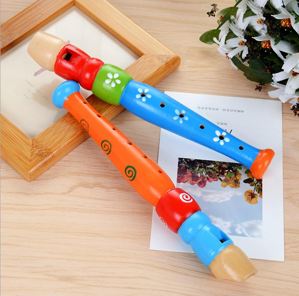 Oyuncaklar rastgele renk renkli ahşap trompet buglet hooter bugle eğitici oyuncak hediye çocuklar için enstrüman oyuncak