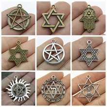 Mix David Accessories Star Of Pendant Charms For Jewelry Making Diy Craft Supplies Heart Keychain Findings
