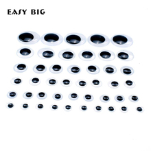 EASY BIG Not Self-adhesive 5-28mm Dolls Eye For Toys Googly Black Eyes Used Doll Accessories NR0025