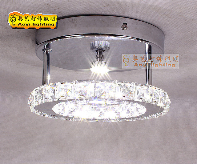 Moderno led lampada da soffitto diametro cm k cristallo anello