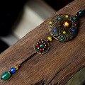 2016 Nova mulheres ágata liga de cobre pingente camisola colares do vintage acessórios de moda jóias XL158 recomendar presente da festa de menina