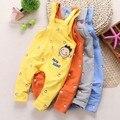 0-2Y nueva primavera 2016 niños niñas tejer generales bebé en general pant vaqueros de las muchachas mameluco del bebé ropa infantil