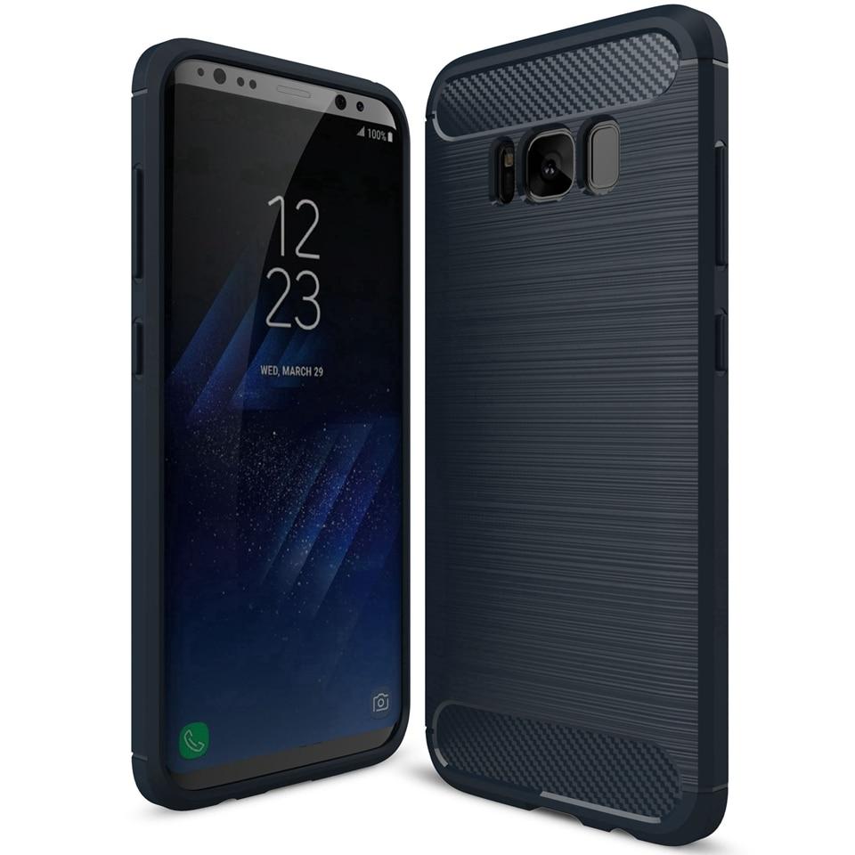 For Samsung Galaxy S8 Case Soft Silicone Brush Armour Shockproof - Բջջային հեռախոսի պարագաներ և պահեստամասեր - Լուսանկար 1