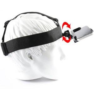 Image 4 - Montagem da correia da cabeça de gopro com grampo do telefone/suporte para o iphone huawei samsung para escalada/esqui/ciclismo esportes 360 graus girados
