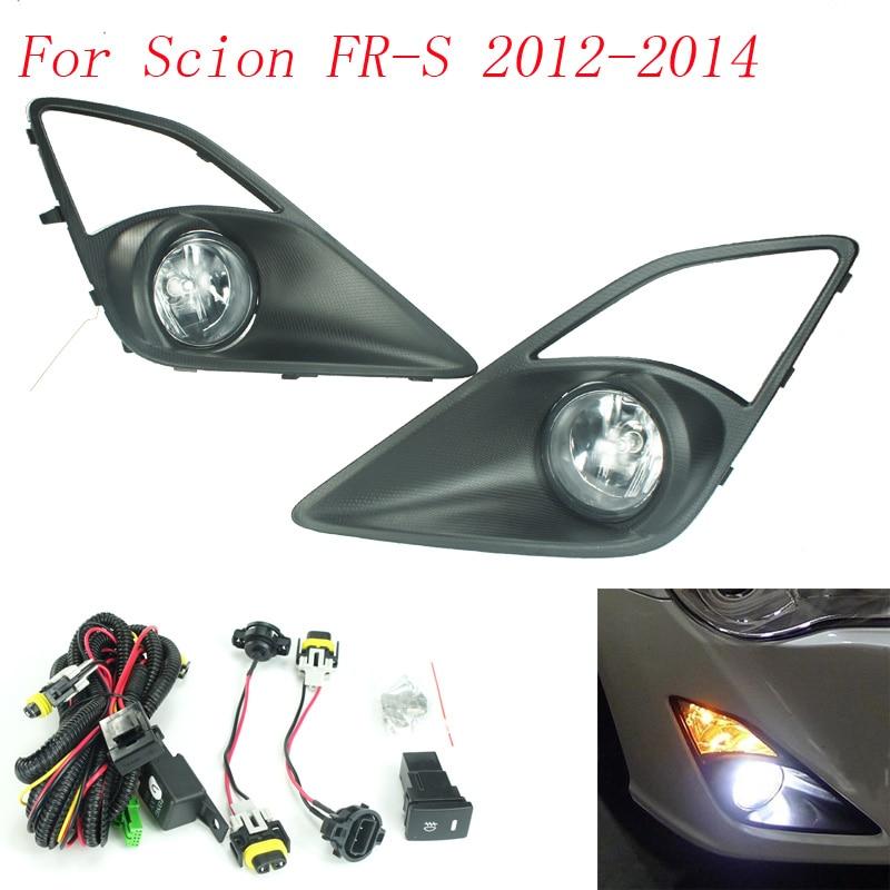Fog light for Scion FR-S FRS 2012-2014 fog lamps Clear Yellow Lens Bumper Fog Lights Driving Lamps Daytime Running light