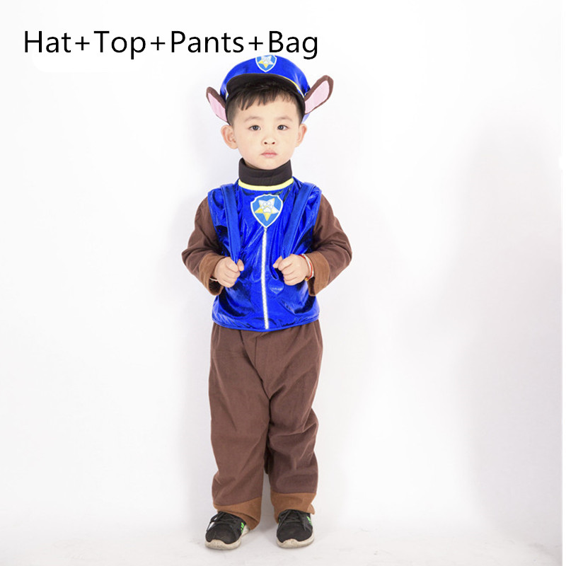 Call Wang Wang Team Pants Suits Anime Dog Cheas Cosplay Costume Children Kid Patrol Dog Cartoon Party Clothes Boy Girl Clothing