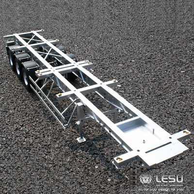 LESU 40 Feet Metal Container Trailer 1/14 RC Tmy  Model Tractor Truck Car DIY TH02025