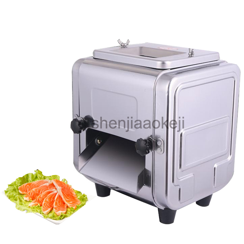 Stainless steel electric Meat slicer commercial multi-function meat slicing machine dicing meat cutter 220v 550w 1pc цена