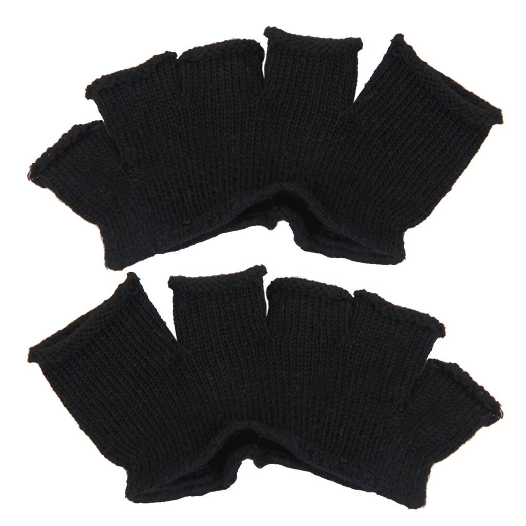 1 pair of socks forefoot 5 toes has open end pieces foot pain relief black