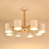 Творческий Дизайн подвесные светильники светодиодные твердой древесины висит свет для гостиной отель люстры гладить абажур Abajur люстры