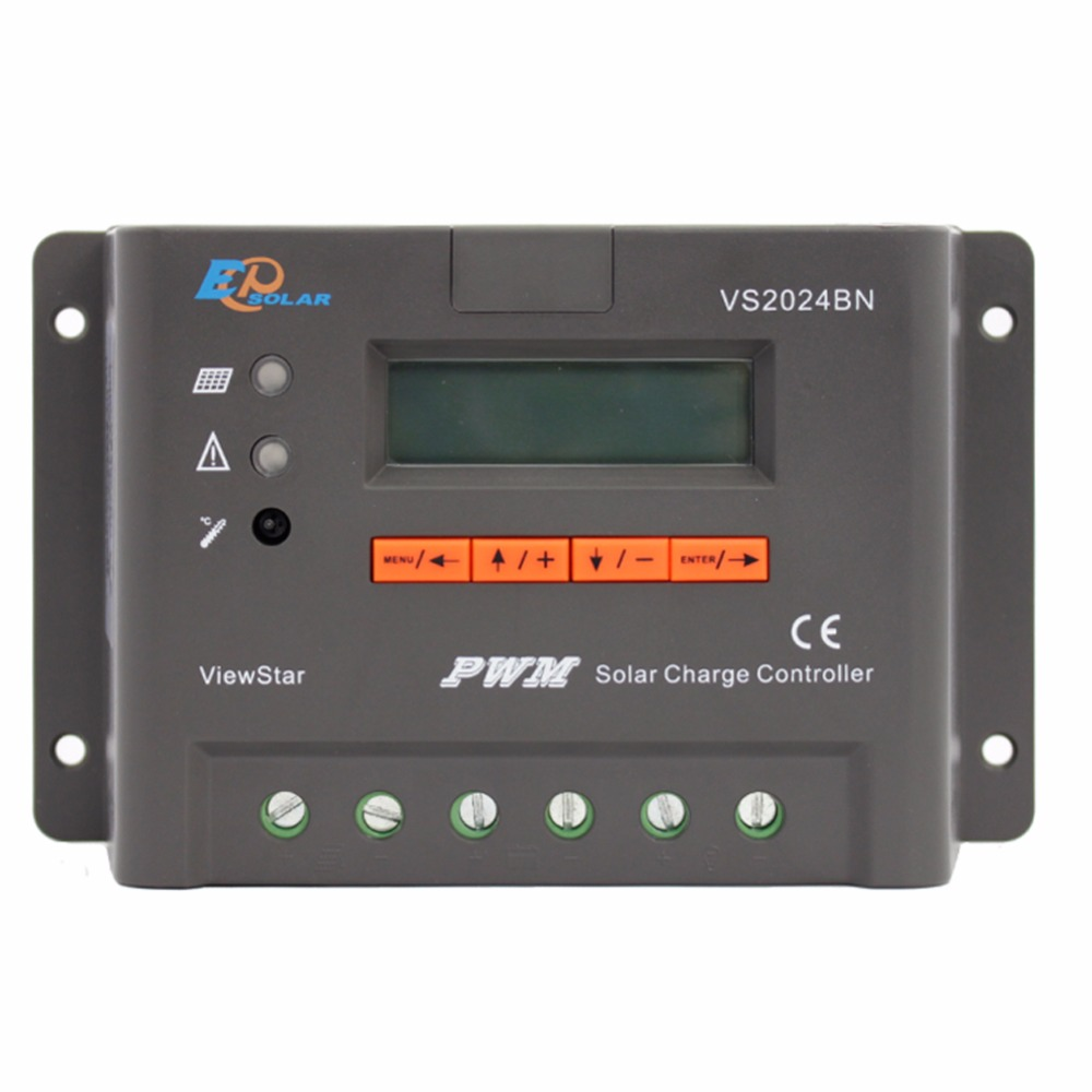 EPSOLAR VS2024BN High efficiency series PWM charging solar controller 20A 20amp ViewStar series with temperature sensor epever solar charging controller with temperature sensor vs2024bn epsolar pwm controller 20a 12v 24v auto work