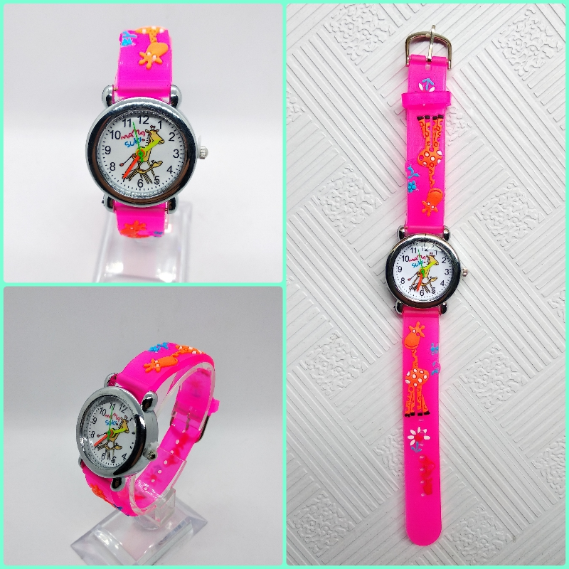 Cute Giraffe Children's Watch Kids Watches For Boys Girls Student Examination Clock Outdoor Sports Child Quartz Wristwatches