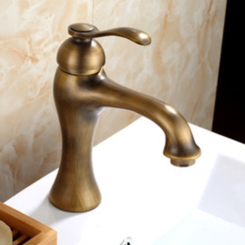 все цены на Luxury Antique Brass Decorative Outdoor Faucet Garden Bibcock Tap Bathroom Washing Machine Mop Faucet