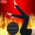 Langsha Foot Women Leggings Black Slim Pants 2200D Super Elastic Thicken Velvet Warm Girls Leggings Autumn Winter Trousers