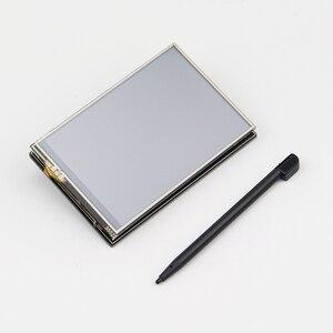 Image 5 - חדש פטל Pi 3 B + (B בתוספת) LCD תצוגת ערכת Quad Core 1.4GHz 64 קצת מעבד עם 3.5 אינץ תצוגת מקרה כוח מתאם חום כיור