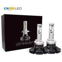 CN360 2PCS Car Led 880 LED Headlight Bulb Conversion Kit Hi Lo Beam Light 6000LM 6000k 12V Mini Size Thin Baes Headlamp