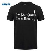 Gildan tシャツ夏ショート私はしないで短い私はホビット面白い&キッズlotrに触発ファン新しいトップクルーネックプリントティ