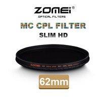 Zomei 62mm CPL Polarisator Filter Slim Pro HD 18 Layer MC circulaire Polarisatiefilter voor Canon Nikon Sony Pentax Leica Camera Lens