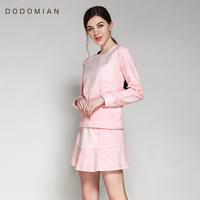 Women Night Dress Cotton Long Nightgown Long Sleeve Tops+Min Dress Sleepwear Set Casual Loose Indoor Clothing for Elegant Female