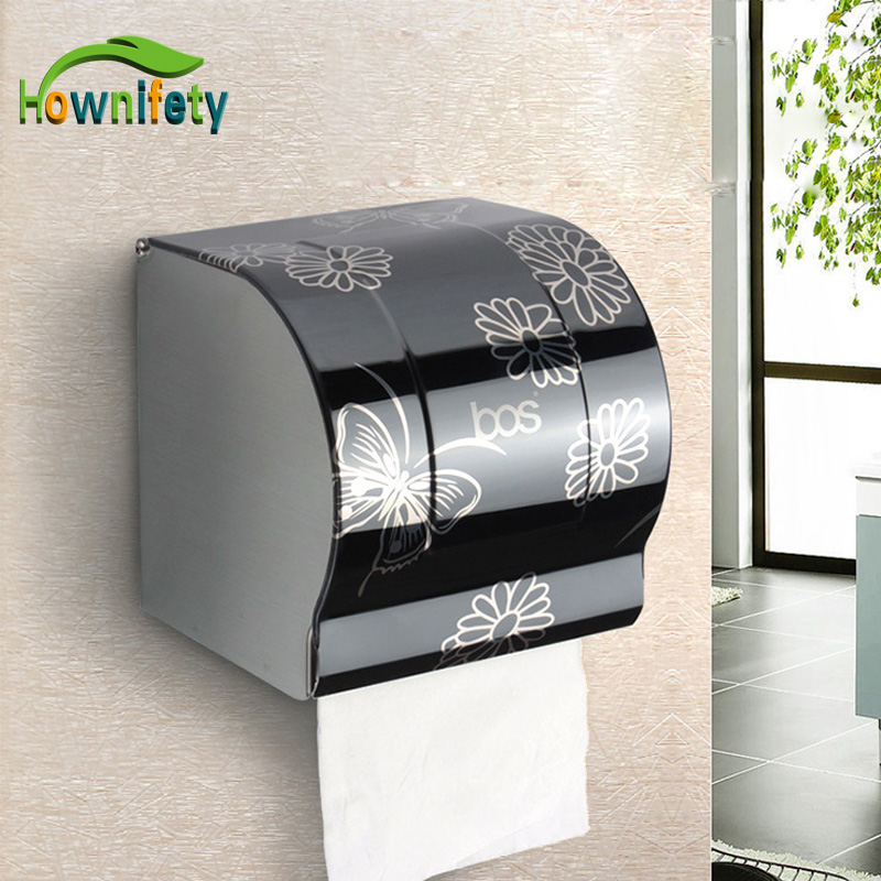Modern Bathroom Accessories Black Painting Surface Brass Toilet Paper Holder Paper Box Wall Mounted luxury antique brass paper rack bathroom paper holder european toilet paper box toilet accessories wall mounted