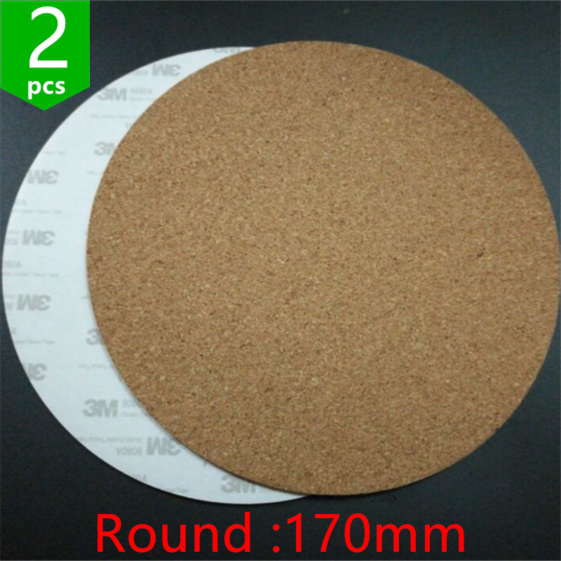 Swmaker 2pcs* 170mm Round Adhesive Cork Sheets For Kossel/delta 3d Printer Heatbed Bed Hot Plate Issulation Cork Sheet Reliable Performance 3d Printer Parts & Accessories