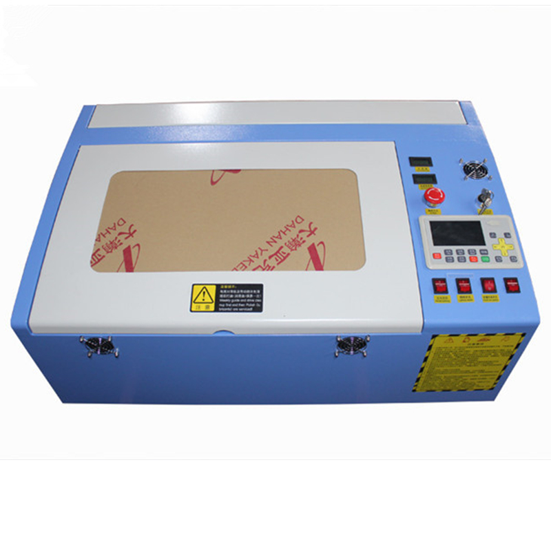 Free shipping 3040 50W color touch screen Ruida laser cutting machine HF 3040 co2 50w automatic cloth cutting machine - 4