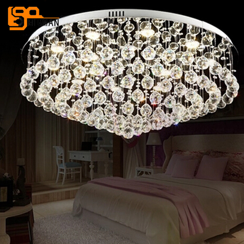 где купить new modern chandelier ceiling crystal light AC110V 220V LED luminare lustre living room lamp дешево