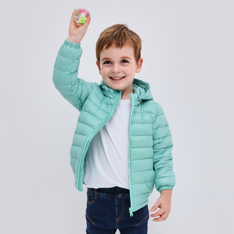 купить Winter new boys and girls in the children's clothing baby thin section jacket 90% white duck down jacket по цене 2914.37 рублей